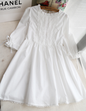 White Japanese Lace Dress AD10423