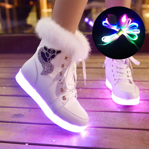 LED Colorful USB Charging Boots AD10409