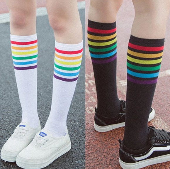Colorful Stripe Stockings AD11462