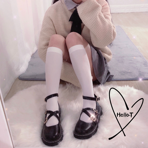 Japanese Jk Flat Shoes AD10894