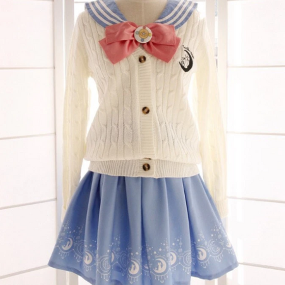 Sailor Moon Woolen Long-Sleeved Cardigan AD11870