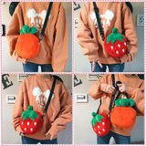 Strawberry Carrot Plush Bag AD10955