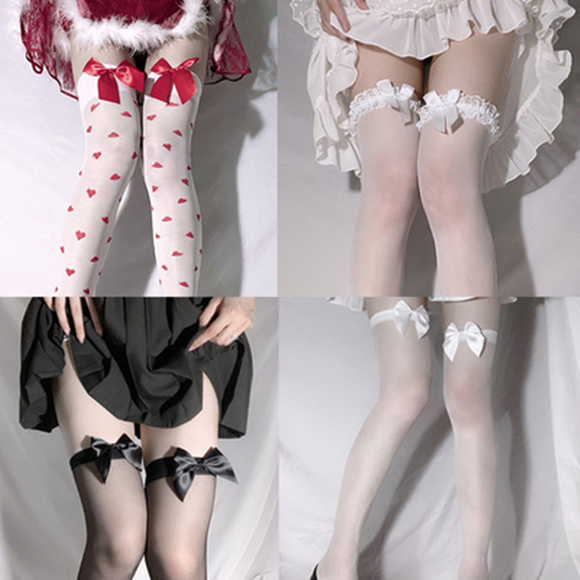 4 pieces Bow Stockings AD11849