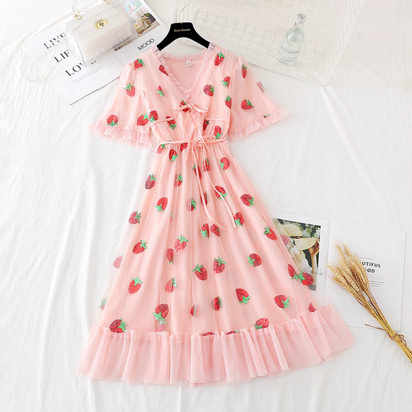Lovely Strawberry Dress AD12585
