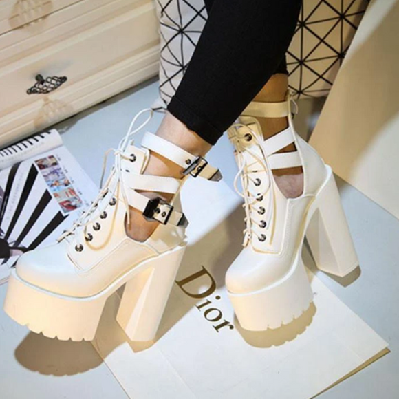 High Heels Strap Platform Shoes AD11419