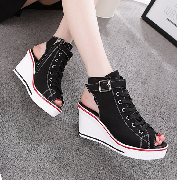 Cool Girl Open Toe Sneaker Wedges AD12000