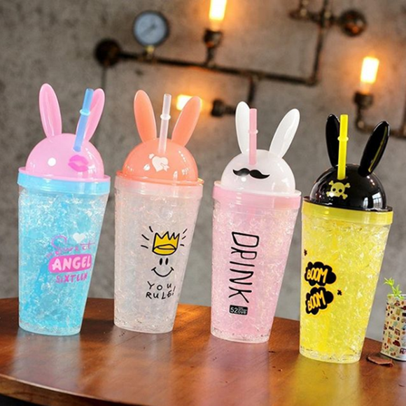 4 Colors Kawaii Bunny Ears Water Bottle AD11466