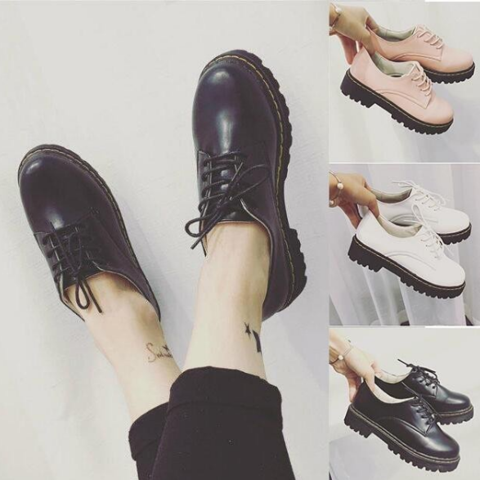 White/Black/Pink Preppy Style Casual Shoes AD10179