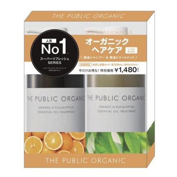 THE PUBLIC ORGANIC - 香橙及桉樹精油 洗護套裝 (Super Refresh)(300ml*2) (平行進口)