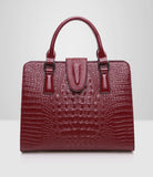 Genuine Leather bag ladies crocodile pattern Women messenger bags. Piel Orginal