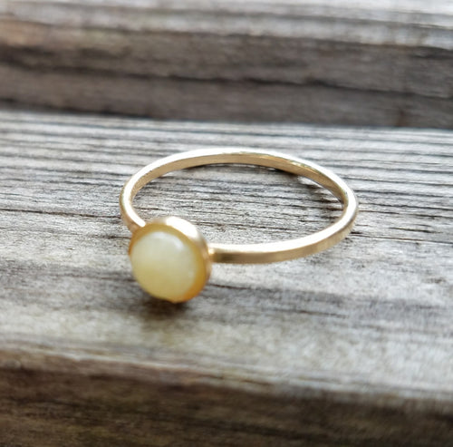 Gold simple bezel ring