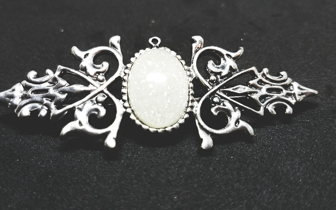 Antique silver broach