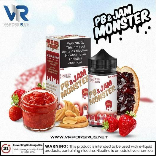 JAM MONSTER – PB & JAM STRAWBERRY