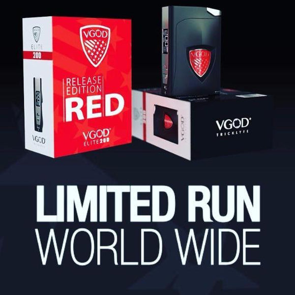 VGOD ELITE 200 RED EDITION | UAE Vapors R Us - The first vape store in UAE
