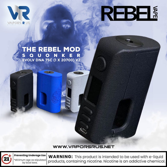 The Rebel Mod Squonker - Evolv DNA 75C (1 x 20700) V2 MOD