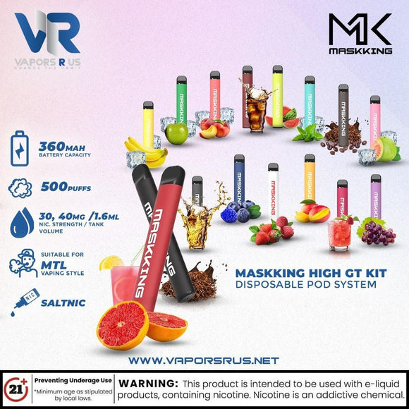 MASKKING HIGH GT KIT DISPOSABLE POD SYSTEM (1 POD)