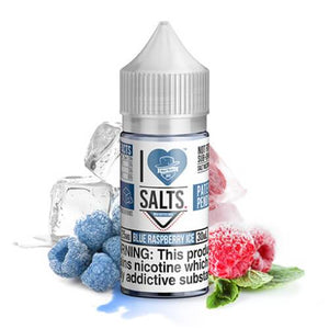 I LOVE SALTS BY MAD HATTER - BLUE RASPBERRY ICE