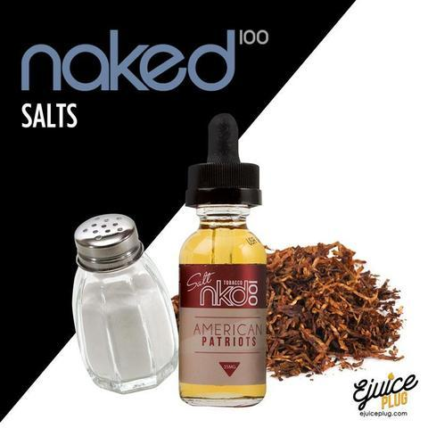 NAKED 100 SALTS - AMERICAN PATRIOTS | UAE Vapors R Us - The first vape store in UAE