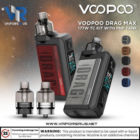 VOOPOO DRAG Max 177W TC Kit with PNP Tank