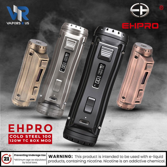 Ehpro Cold Steel 100 120W TC Box MOD