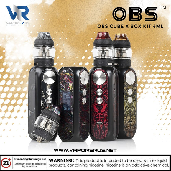OBS Cube X Box Kit 4ml