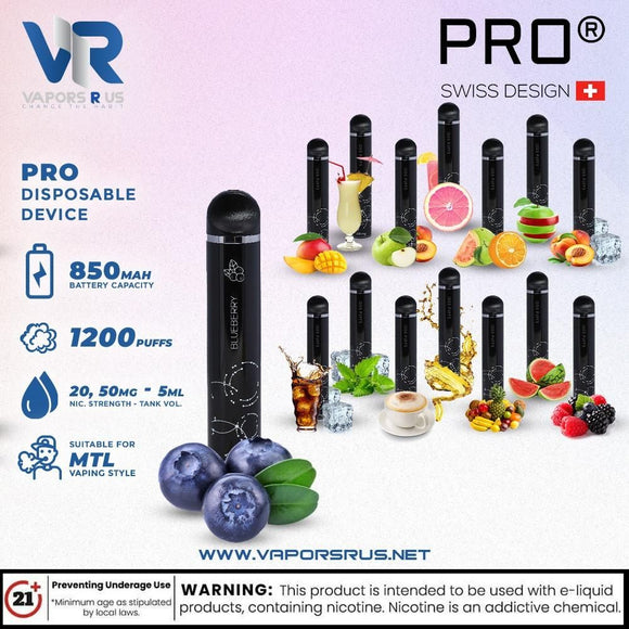 PRO Disposable 1200 Puffs