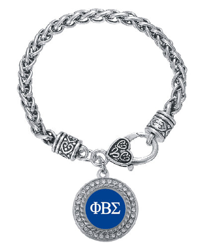 Bracelet. Customized  Phi Beta Sigma Fraternity  Crystal Circle Silver Bracelet Jewelry  BGLO - Songbird Deals
