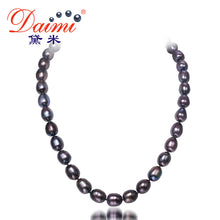 Pearls, black. DAIMI 10-11MM  Big Black Rice Pearl Necklace Natural Pearl Choker Necklace - Songbird Deals