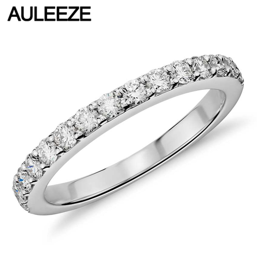 Wedding Band Lab Grown Diamond 14K White Gold  Band Wedding Ring Diamond Classic - Songbird Deals