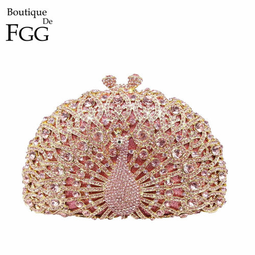 Purse, evening. Dazzling Pink Crystal Handbag - Songbird Deals