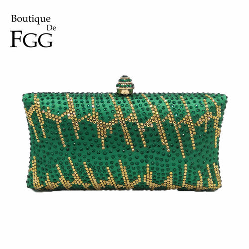 Purse. Green Emerald Crystal Evening Clutches Purse  Bag Shoulder Bag - Songbird Deals
