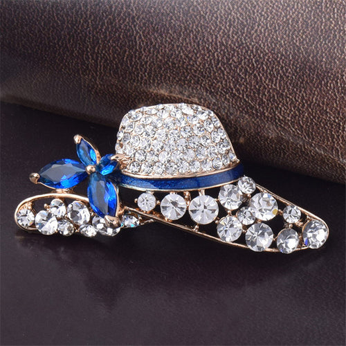 Brooch. Hat Shaped Rhinestone Brooch For Women Jewelry Accessories - Songbird Deals