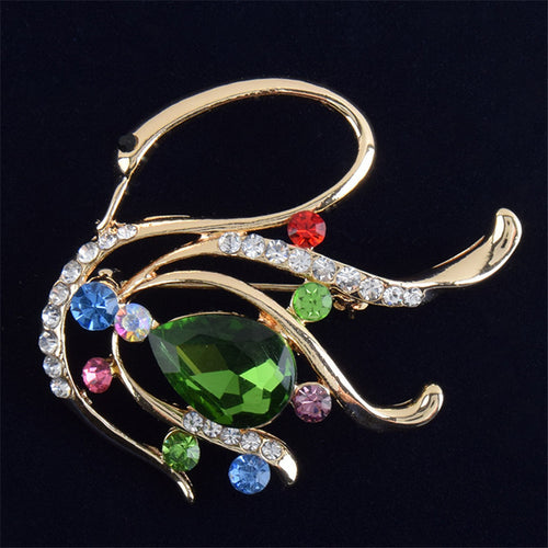Crystal Swan Brooch - Songbird Deals