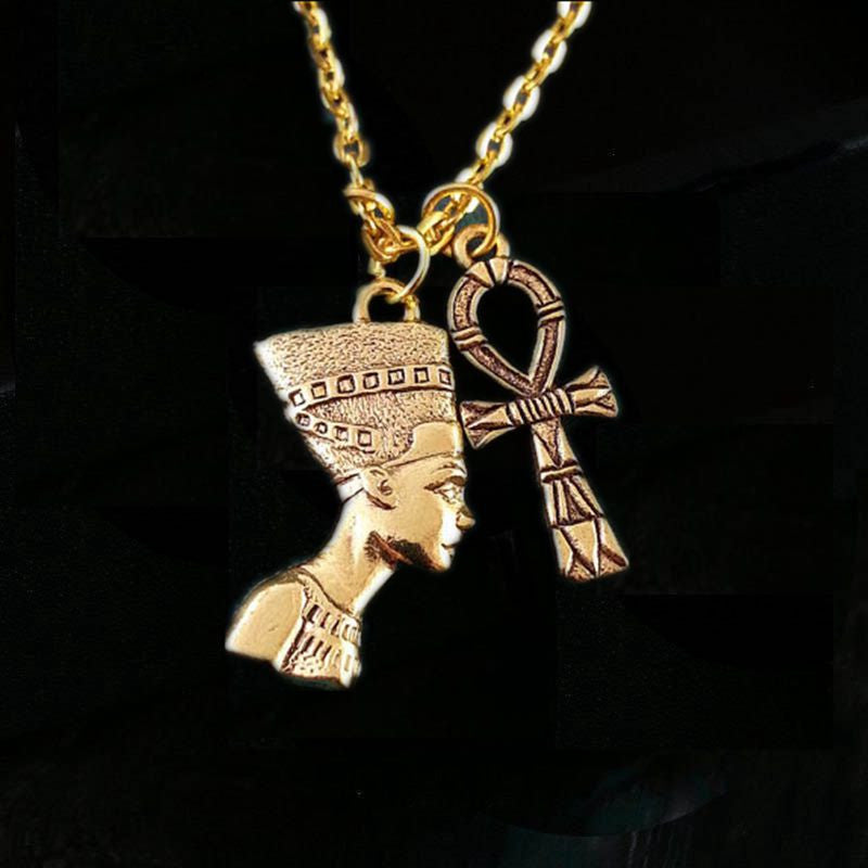 egyptian listing initial necklace pendant il gold name