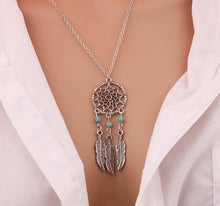 Pendant. Tassels Feather Necklace Jewelry Dream Catcher Pendant Chain Necklace Gift - Songbird Deals