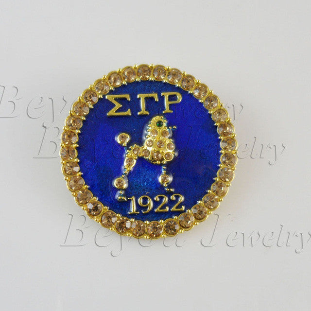 Sigma Gamma Rho  Lapel Poodle Pin jewelry BGLO 'Divine 9' - Songbird Deals