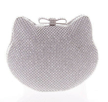 Handbag, Luxury  Silver Evening Bag, Rhinestone Clutch - Songbird Deals