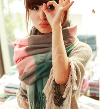 Shawl. HighFashion cashmere wool scarf,  bufanda Tassel  shawl pashmina. Thick Plaid - Songbird Deals