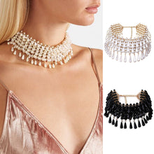Necklace. collar luxury pendant simulated pearl choker maxi jewelry - Songbird Deals