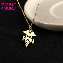Necklace Stainless Steel Registered Nurse Gold/Silver Color Necklaces for Women Gift Jewelry - Songbird Deals