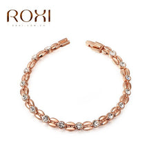Bracelet. Genuine Austrian Crystals Elegant Bracelet Rose Gold Color Hand Made Jewelry - Songbird Deals