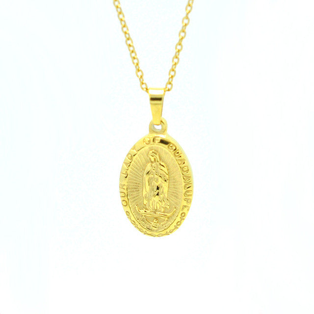 Pendant/Necklace. Our Lady of Guadalupe Accessories Catholic  Short Necklace Unisex - Songbird Deals