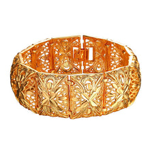 Bracelet.  Cuff Bracelet 20cm Long 2.2cm Width Gold Plated Cute Metal Fashion Bracelet Bangles H2400 - Songbird Deals