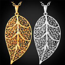 Pendant Necklace For Women Gold Color Big Leaf HipHop Style Necklace Fashion Egyptian Jewelry P1573 - Songbird Deals