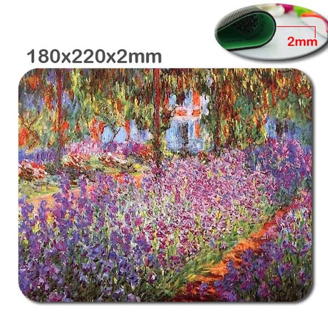 Mouse Pad. in 220*180m*2mm /290*250*2mStylish, office accessory gift, Monet's Garden print - Songbird Deals
