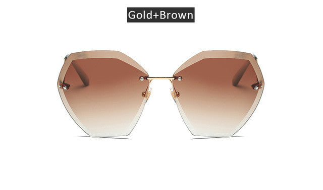 Sunglasses. Oversized Gradie Rimless Sunglasses - Songbird Deals
