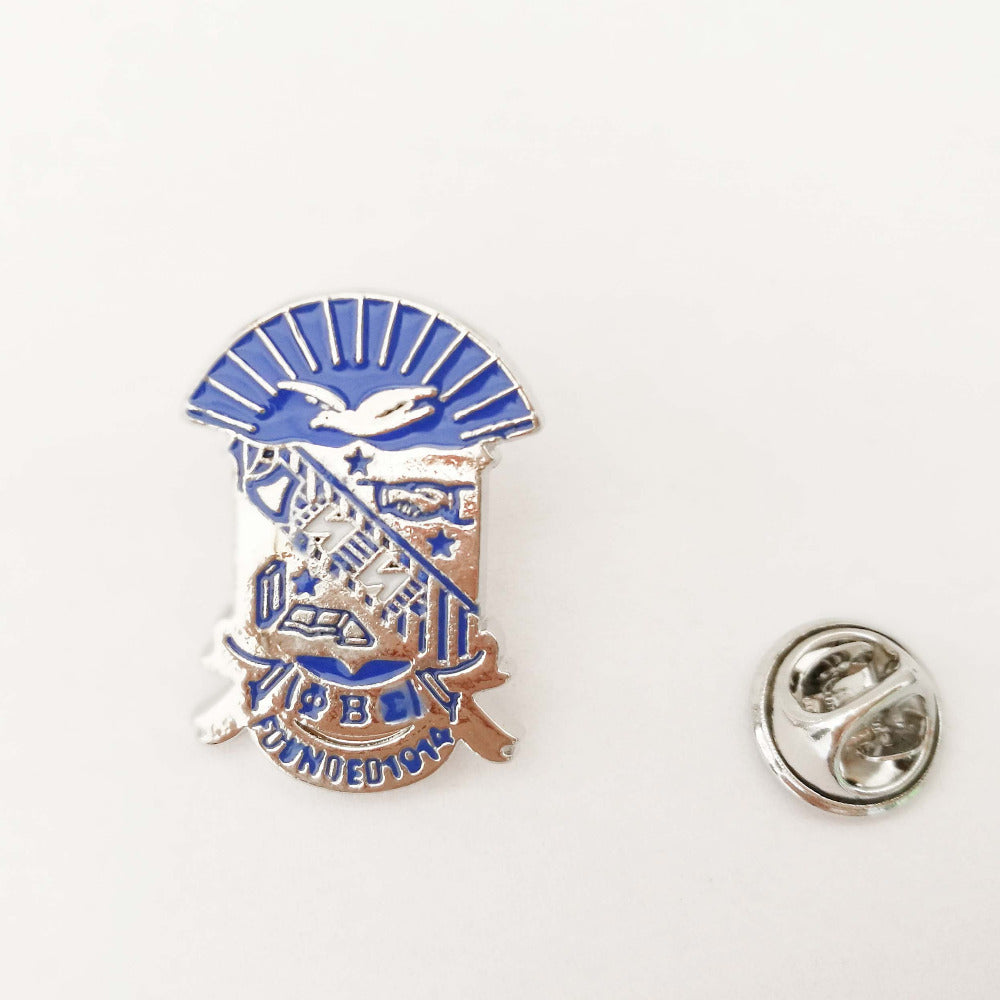 Phi Beta Sigma Divine Nine BGLO Fraternity  Shield Lapel Pin - Songbird Deals