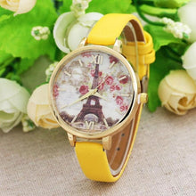 Watch.Quartz-watch Analog Flower Pu leather WristWatch fashion Ladies Clock - Songbird Deals