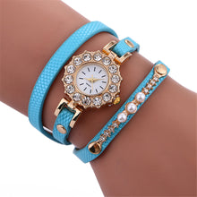 Watch. Stylish Simplicity Crystal Leather Bracelet Lady Womans Wrist Watch - Songbird Deals