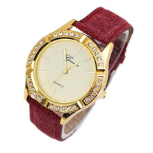 Geneva Women Diamond Analog Leather Quartz Wrist Watch Watches - Songbird Deals